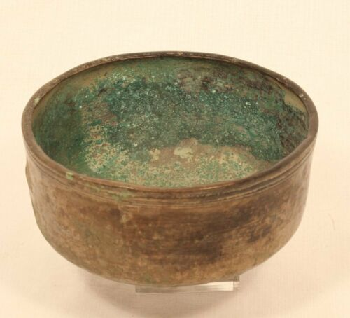 Khmer cast bronze bowl