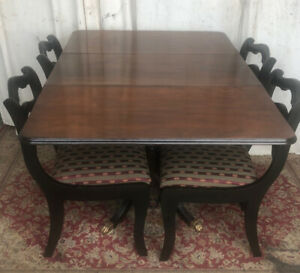 Duncan Phyfe Round Table With Drawer.Duncan Phyfe Dining Table Kijiji In Ontario Buy Sell Save