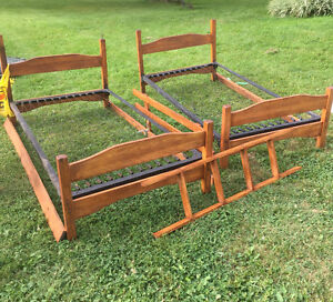 Antique solid wood bunk beds