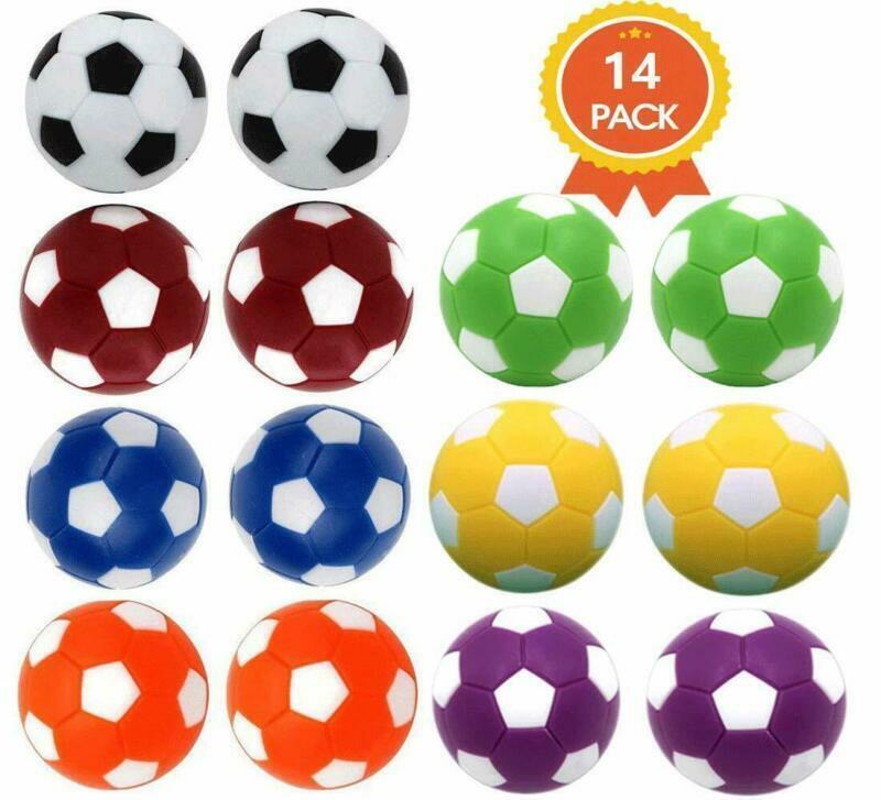 Qtimal Table Soccer Foosballs Replacement Balls, Mini Colorf