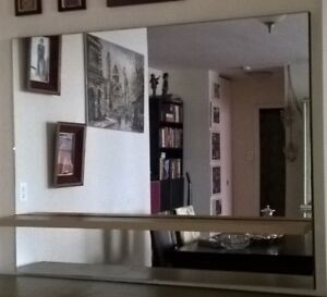 Large wall mirror 60inx47in