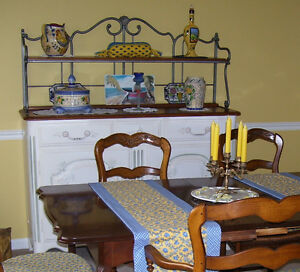 Buffet (French Country Hutch), hand painted and signed by artist