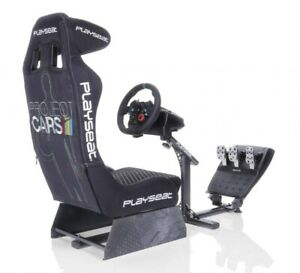 Play seat or stand for wheel and pedals
