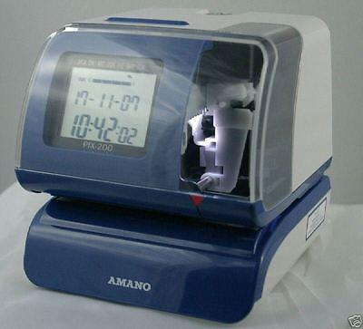 Werkstattstempler Stempeluhr Amano PIX 200 Stechuhr Datumsstempler Zeiterfassung