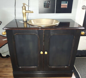 Stayner Ont- Antique Black/Brass Vanity