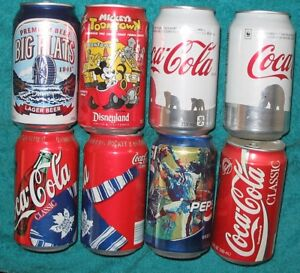 Coke Pop cans and Bottles Lot