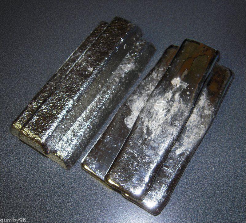 1 Pound TIN metal Ingot 99.97% pure element Bullion - 453.6+ grams lb BAR