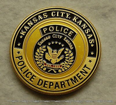 KANSA CITY POLICE DEPARTMENT Challenge Coin Kansas KCPD Officer Badge Agent KC