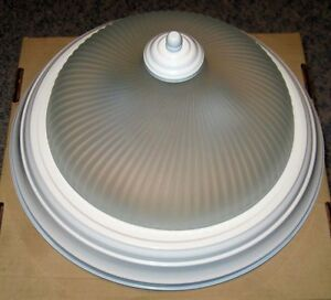 White Ceiling Dome Light - $10
