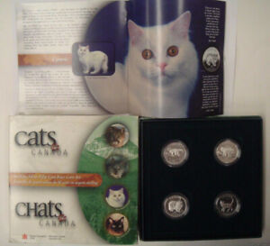 1999 CATS OF CANADA PROOF 50 CENT 4-COIN SET