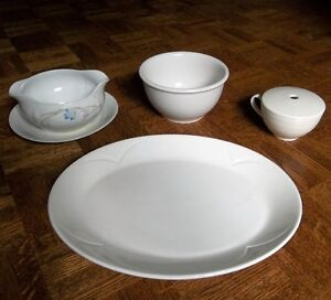 Fine China White Serving Pieces