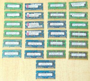 LAPTOP MEMORY DDR3 LOTS TO CHOOSE FROM $20 PER STICK ALL TESTED
