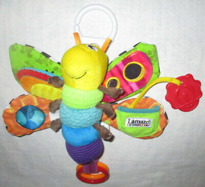 LAMAZE FREDDIE THE FIREFLY INTERACTIVE SOFT TOY CLIP-ON CRINKLES SQUEAKER RATTLE