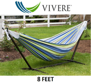 NEW VIVERE DOUBLE OASIS HAMMOCK WITH STAND 8 FEET REG $200