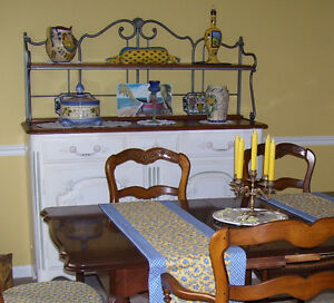 Buffet (French Country Hutch), hand painted& signed by artist
