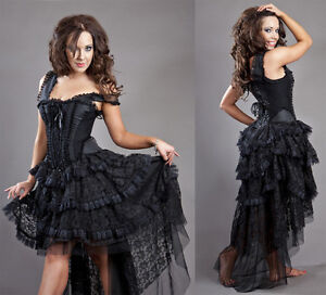 New-Vintage-Victorian-Gothic-Steampunk-Evening-Corset-Burleska-Dress-Size-8-16