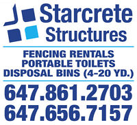 Bin, Fencing and Portable Toilet Rental