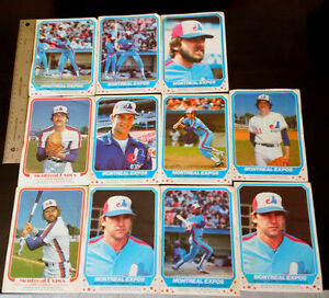 11 MLB MONTREAL EXPOS 1981-82 O-Pee-Chee Posters RAINES DAWSON