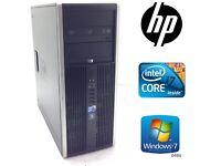 Gaming HP 8100 intel i7 Quad core 500GB, hdd , 8GB ram, ,AMD 1gb Video
