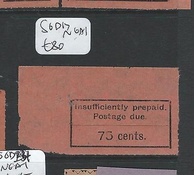ZANZIBAR  (P2807B) POSTAGE DUE 75C SGD17  NGAI