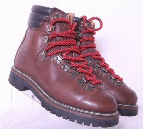 Vtg Kinney Colorado Mountaineering Hiking boot Brown Leather insulated Men