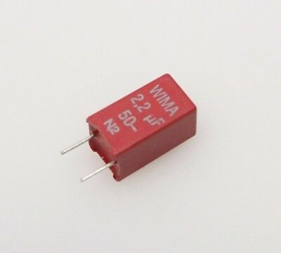 Wima Mks2-2.25010pcm5 2.2uf 50vdc 10 Radial Polyester Film Capacitor Qty-10