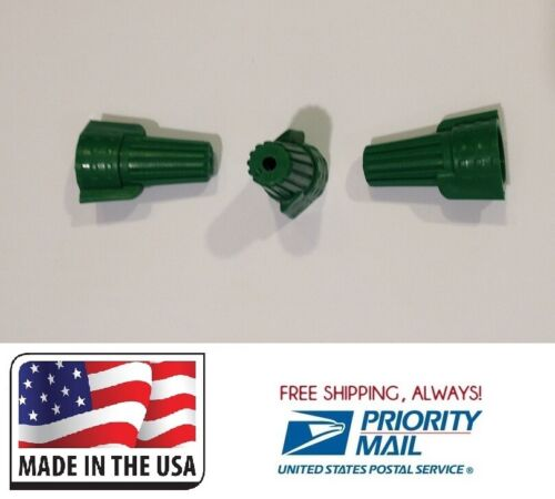 (500) Green Double Winged P11 Twist Nut Wire Connector Grounding Made in USA