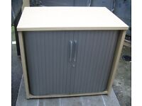 WOODEN ROLLER SHUTTER CABINET FILING CABINET 10 AVAILABLE