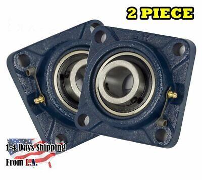 Ucf204-12 Pillow Block Flange Bearing 34 Bore 4 Bolt Solid Base 2pcs
