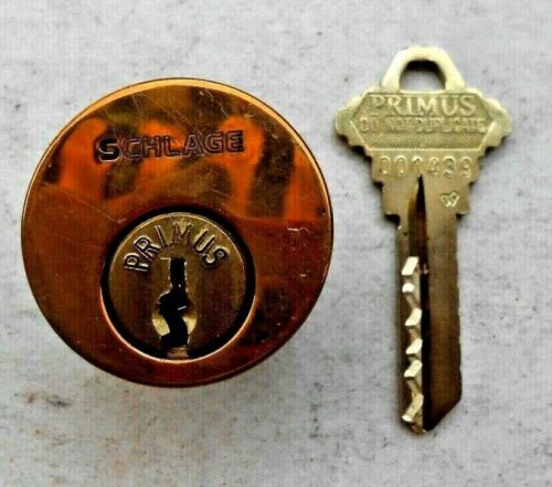 High Security Schlage   Primus Mortise   Cylinder Lock with one Key blank