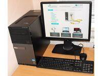 Dell i3 Windows 10 PC Microsoft Office Complete Desktop Computer