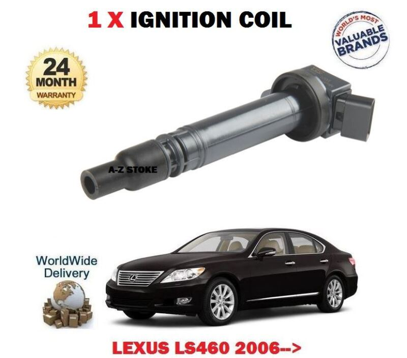 FOR LEXUS LS460 1UR-FSE 32v 2006-> NEW 1 X IGNITION SPARK PLUG COIL 90919-02256