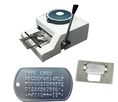 62d Characters Dog Id Tag Embosser Embossing Stamping Machine Turkey Characters