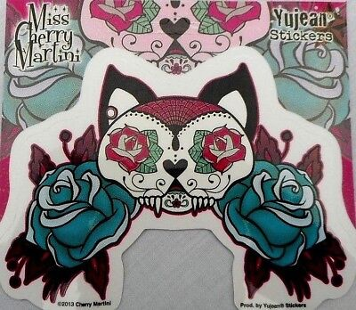 Dia De Los Muertos Gato Day Of The Dead  Kitty Cat Decal Sticker 5.1/4