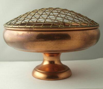 Vintage Copper Pedestal Rose Bowl