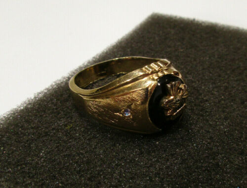 Vtg Ring LOOM Loyal Order of the Moose 18KT HGE Gold Size 13 Uncas Hallmark