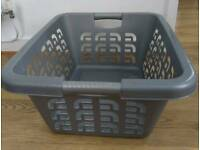 Curver Grey Laundry Basket Hip Rectangular Solid