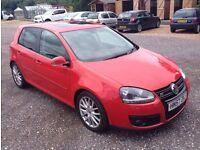 Late 2007 57 Reg Volkswagen Golf 2.0 TDI DPF GT Sport, 170 BHP, Diesel, 5 Door, Metallic Red