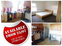 Large furnished double bedroom available from 25/07 in a friendly house