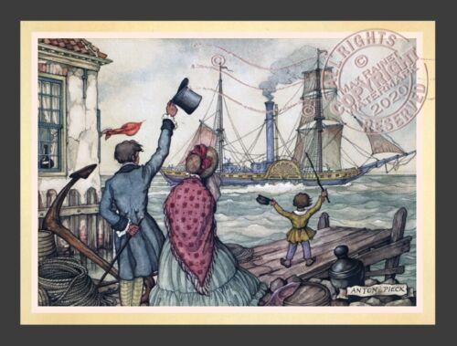Sending Off The Ship * Dutch Baroque * English Wharf Dock ANTON PIECK Art Print