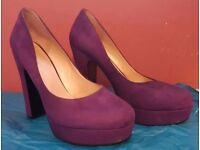 Nine West Drought Purple Platform Shoes