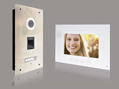 Fingerprint Türsprechanlage 7'' Monitor Gegensprechanlage Video Bildspeicher