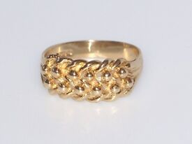 UNIQUE EDWARDIAN 9CT MEN'S SOLID GOLD WOVEN BAND RING SIZE P FULLY HALLMARKED MADE ENG REAL WORK ART