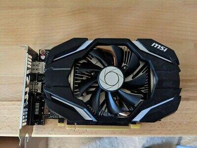 1x MSI GeForce GTX 1060 6GB OCV1 Single Fan Graphics Card