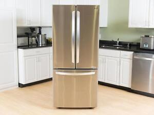 FRIDGES STAINLESS STEEL 28'' 30'' 33'' 36'' FRENCH DOORS FREE DELIVERY WINTER'S END SALE