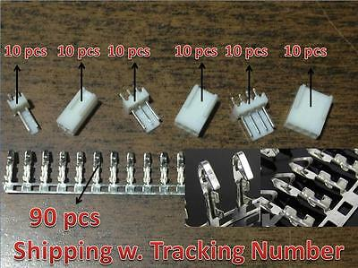 10 Sets Kf2510-2p 3p 4p 2.54mm Pin Headerterminalhousing Connector Kits