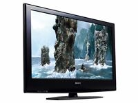"Sony Bravia 40"" inch HD Ready TV Screen Flat LCD Television Freeview HDMI + Soundbar Built in"