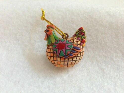 FRENCH HEN Jim Shore 12 Days of Christmas Mini-Ornament 2006 4002426FH