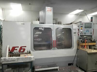Haas Vf-6b Cnc Vertical Machining Center 10000 Rpm 2 Speed Gearbox Auger