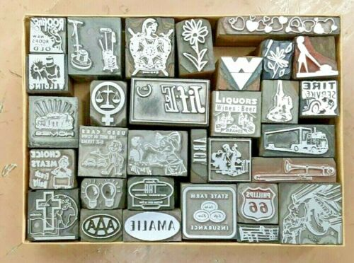 28 Printer Blocks Letterpress Printing Kelsey Shadowbox